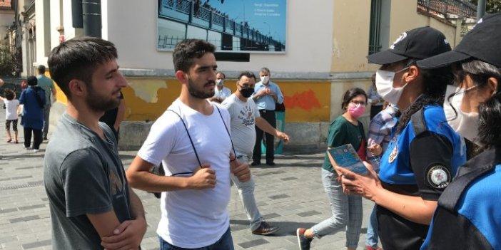 İstiklal Caddesi'nde ceza korkusu maske taktırdı