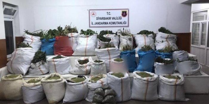 Diyarbakır'da çuvallar dolusu uyuşturucu