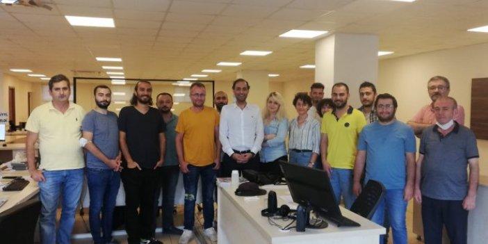 Murat Ağırel aylar sonra gazetesini ziyaret etti
