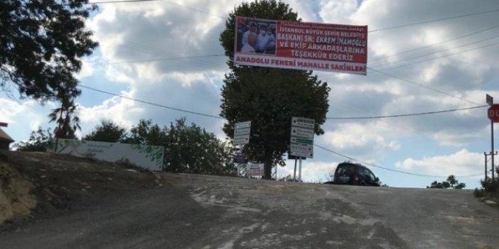 14 yıldır kapalı olan yol Ekrem İmamoğlu'nun çabalarıyla tekrardan kullanıma açıldı
