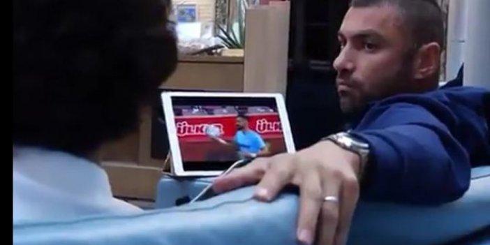İşte Burak Yılmaz'ın Fransa'da izlediği maç! Kimsenin gözünden kaçmayan o detay