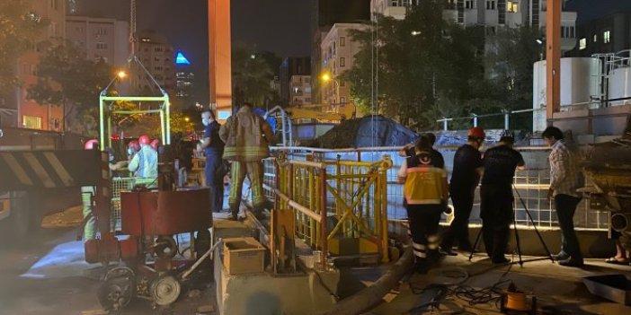 İstanbul'da metro şantiyesinde kaza! Vinç halatı boşaldı, 2 işçi yaralandı