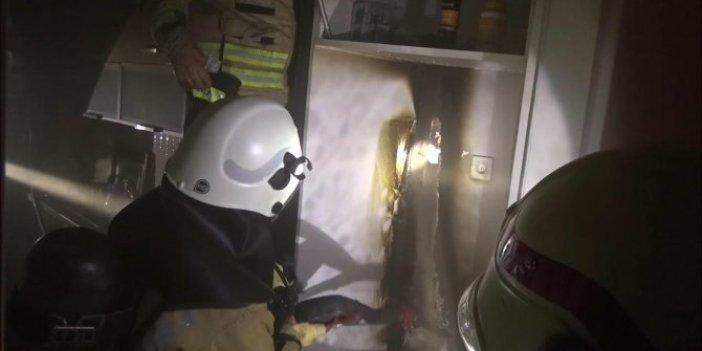 Silivri'de buzdolabı motoru patladı! Etraf savaş alanına döndü