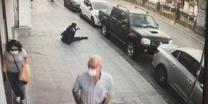 Sokak ortasında böyle çatıştılar