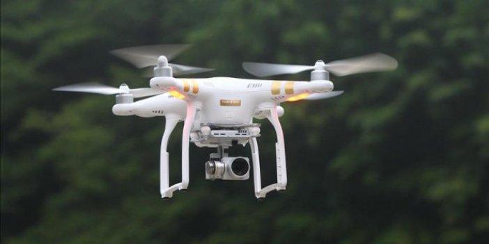 """Kırmızı ışıkta geçen ehliyetsiz sürücü """"drone""""a yakalandı"""