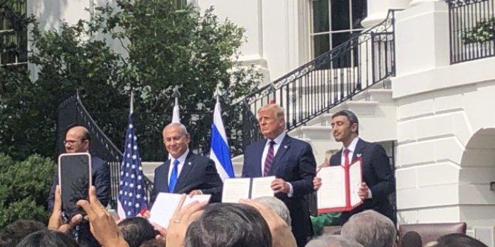 Beyaz Saray'da Filistin'i yok sayan anlaşma imzalandı