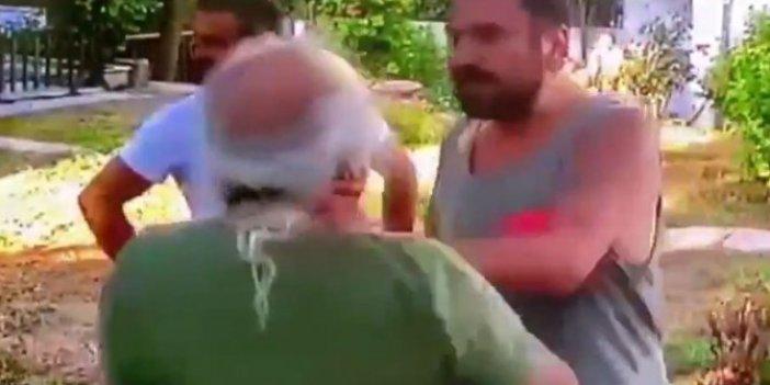 Halil Sezai'nin yaşlı adamı dövdüğü olayın bütün görüntüleri ortaya çıktı, evin içinden çıkartıp sokağa kadar dövdü