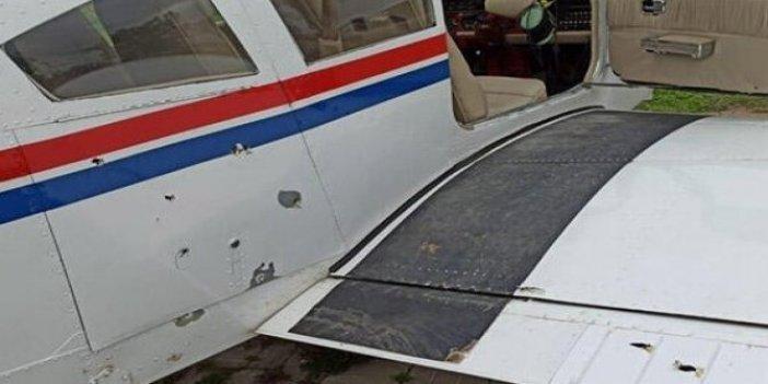 Pilot neye uğradığını şaşırdı! Evinin üstünden geçen uçağa kurşun yağdırdı