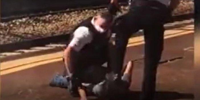 Fransız polisi turistin kafasını ayaklarıyla paspas yaptı! İnsanlık dışı gözaltı