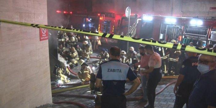 İstanbul'da sandalye atölyesinde yangın! Mahalleli seferber oldu