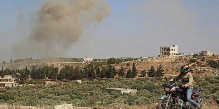 Rus uçakları İdlib'i bombaladı