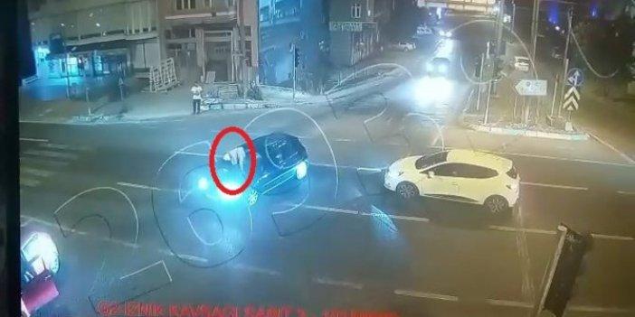Kaportasına çıkan adamı kadın sürücü karakola böyle götürdü! Bu akşam herkes bu haberi konuşacak
