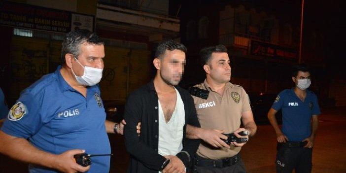 Adana'da çift tabancalı şahıs polisten kaçtı! Yakalanınca öyle bir savumda bulundu ki