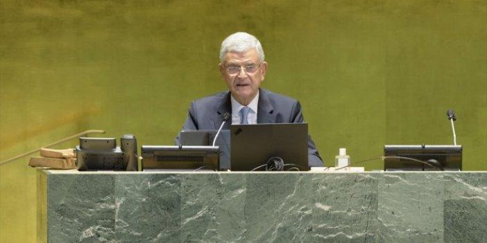 BM'de, ilk Türk genel kurul başkanı Volkan Bozkır konuştu