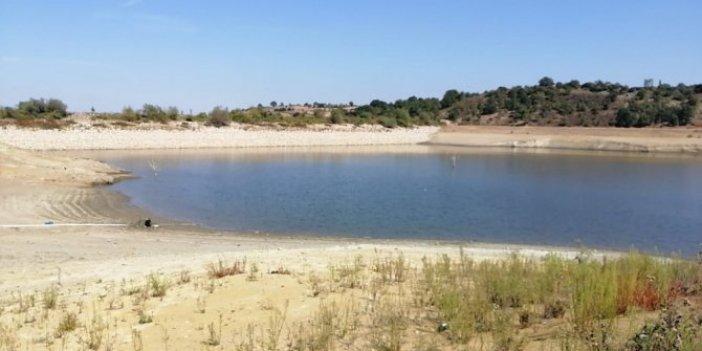 Gölette korkutan görüntüler. Sular çekilince ortaya çıktı