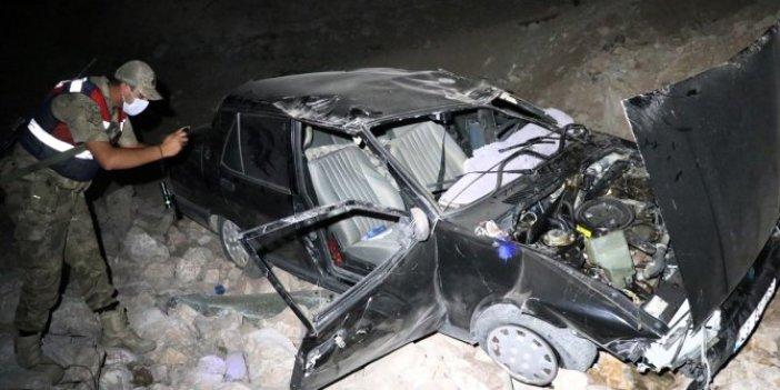 Elazığ'da otomobil 6 metreden şarampole devrildi! 2'si çocuk 5 kişi yaralandı