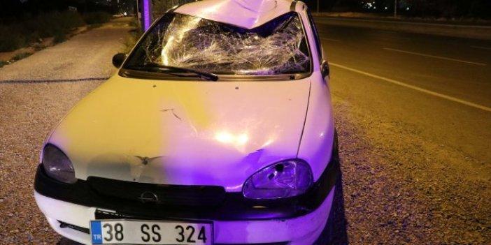 Kayseri'de ehliyetsiz sürücünün çarptığı bisikletli ağır yaralandı