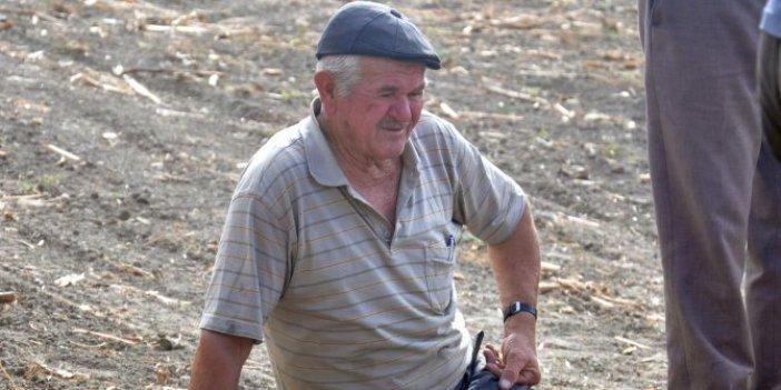 Bir çiftçinin kahrolduğu an! Tarlasının ortasında çöküp gözyaşı döktü