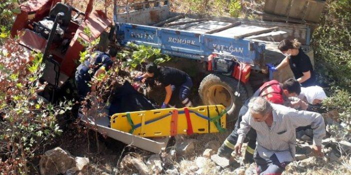 Muğla'da minik Kevser devrilen traktörün altında kadı!