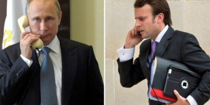 Putin-Macron'un  telefon görüşmesini yayınladılar! Fransa soruşturma başlattı