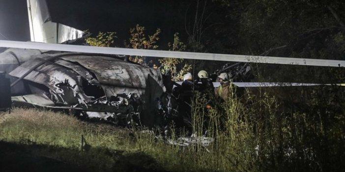 Ukrayna'da askeri uçak düştü! 22 kişi öldü!  İşte o görüntüler