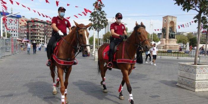 Taksim atlı polislere emanet