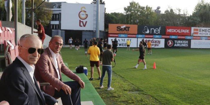 Galatasaray'da başkan Cengiz derbi öncesi antrenmanı adım adım takip etti