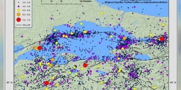 Marmara'da deprem riski işte bu haritada: Kandilli Rasathanesi müdürü paylaştı!