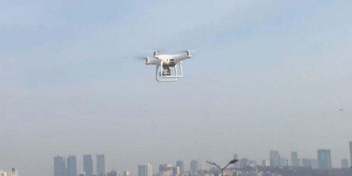 Beyoğlu'nda drone destekli denetim