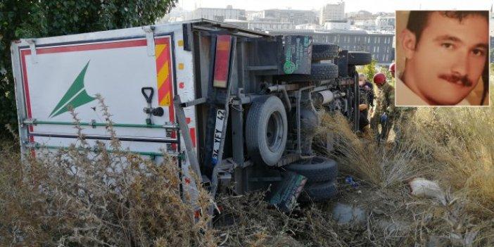 Bağcılar'da freni boşalan kamyoneti durmak istedi. Feci şekilde can verdi