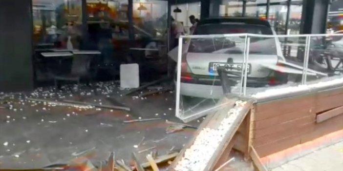 Bodosloma kafeye girdi! Kaza ucuz atlatıldı