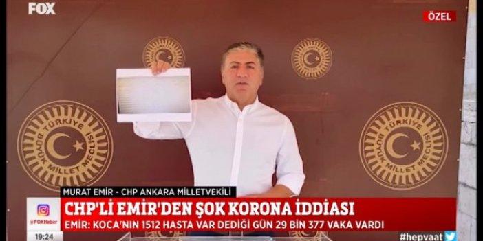 CHP'den şok eden korona açıklaması. Vaka sayısı açıklananın 20 katı. Belgesini gösterdi Bakan Koca'nın cevabını bekliyor