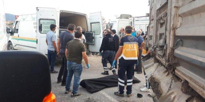Kütahya'da feci kaza. Motosiklet sürücüsü hayatını kaybetti