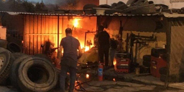 Bodrum'da yangın panik yarattı
