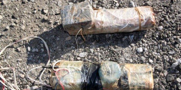 PKK'lı teröristlerintuzakladığı 300 kilogram patlayıcı imha edildi