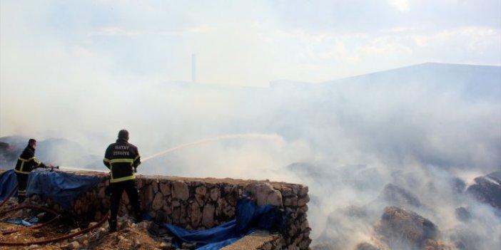Palet fabrikasındaki yangına müdahale sürüyor