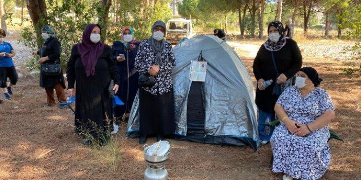 Maltepe'de vatandaşlardan çadırlı eylem