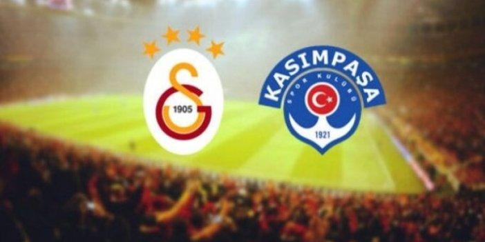Kasımpaşa-Galatasaray maçının ilk 11'leri