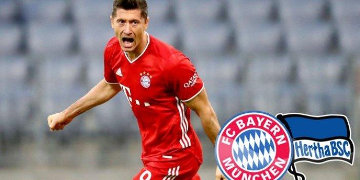 Bayern Münih, Lewandowski'nin devleştiği maçta Hertha Berlin'i  4-3 yendi