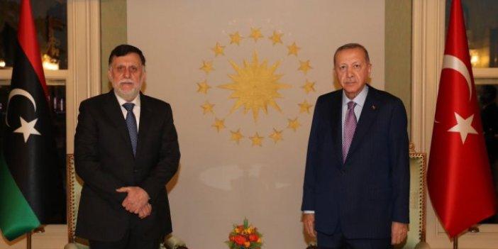 Cumhurbaşkanı Erdoğan ile Libya Başbakanı Serrac görüştü
