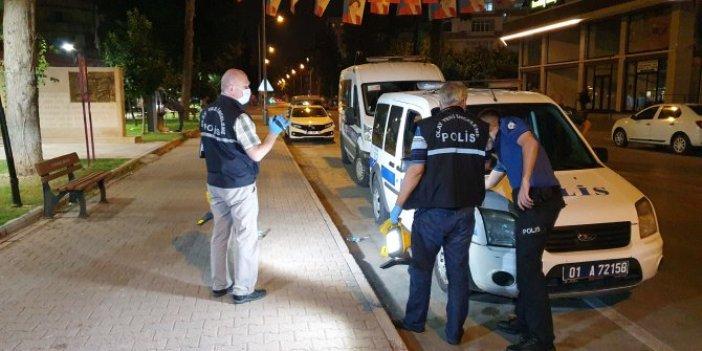 Adana'da maskeli motosiklet dehşeti!