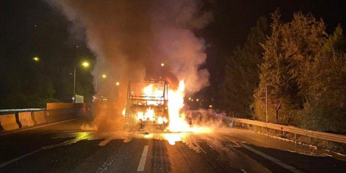 Facia ucuza atlatıldı! Adana'da yolcu otobüsünde yangın