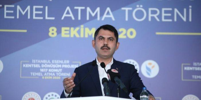 Bakan Murat Kurum, İstanbul'da acil dönüştürülmesi gereken konut sayısını açıkladı