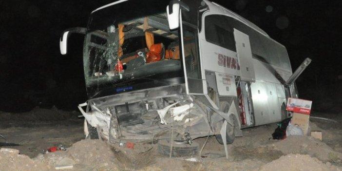 Yolcu otobüsü devrildi! Yaralılar var