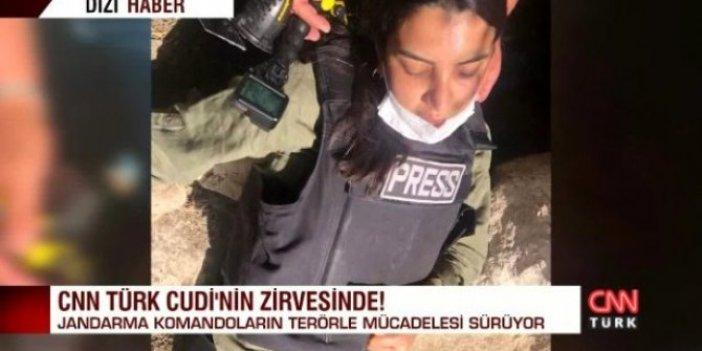 CNN Türk'ün dişi Savaş Ay'ı Fulya Öztürk Cudi'de bayıldı. Jandarma komandolar zor ayılttı