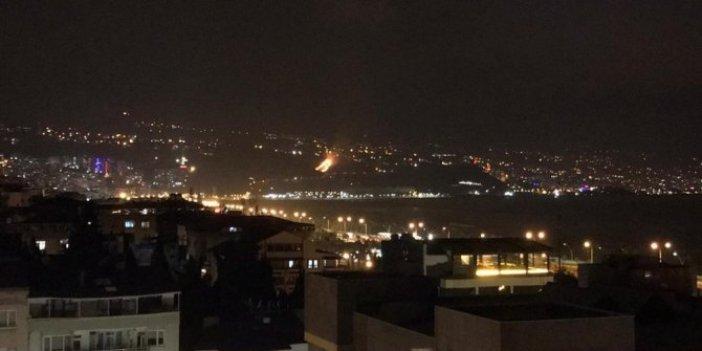 Hatay'dan sonra şimdi de Trabzon... Akyazı'da orman yangını