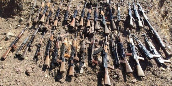 MSB açıkladı: PKK'ya ait çok sayıda silah ve mühimmat ele geçirildi