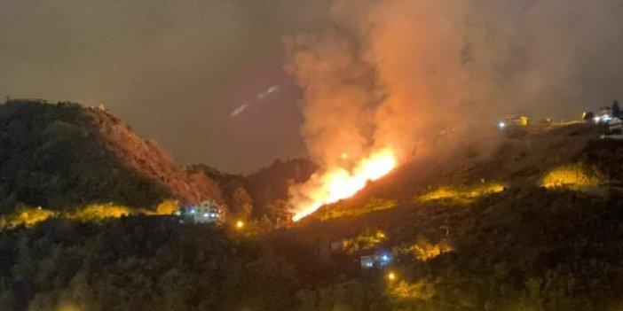 Trabzon'daki yangınlarla ilgili flaş açıklama
