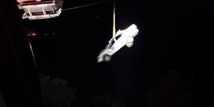 Antalya'da taklalar atan araç uçuruma yuvarlandı! 1 kişi öldü