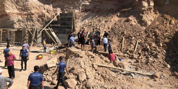 Kahramanmaraş'ta inşaat alanında kazı faciası